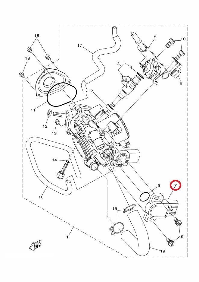 Czujnik położenia przepustnicy Yamaha YFM 550 700 08-17