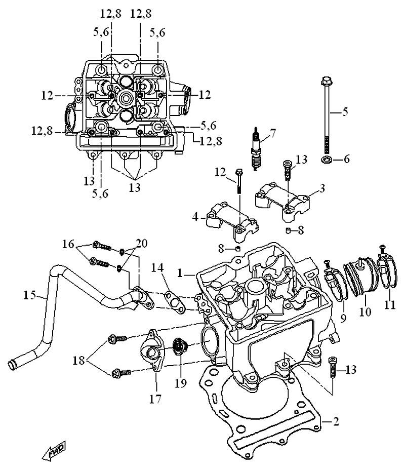 02. Uszczelka pod głowicę A12300-E12-000 :: ATV Expert