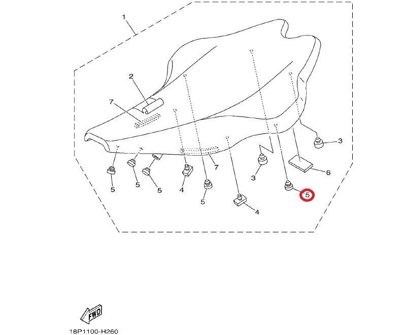 Poduszka siedzenia Yamaha RAPTOR GRIZZLY YFZ450 R 01-11