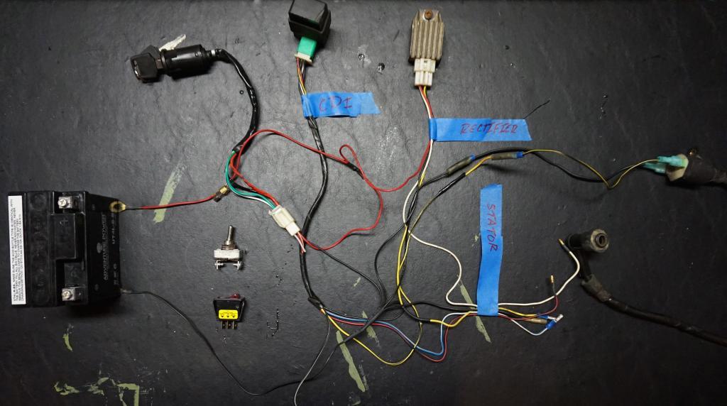 tao tao wiring harness schematic diagram Tao Tao ATV Parts tao 110 barebones wiring harness atvconnection atv wiring diagram tao tao four wheelers tao tao wiring