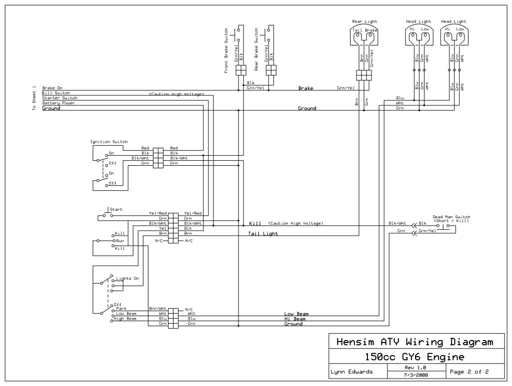 110 Quad Wiring Diagram For Ignition Switch Wiring Harness Atvconnection Com Atv Enthusiast Community