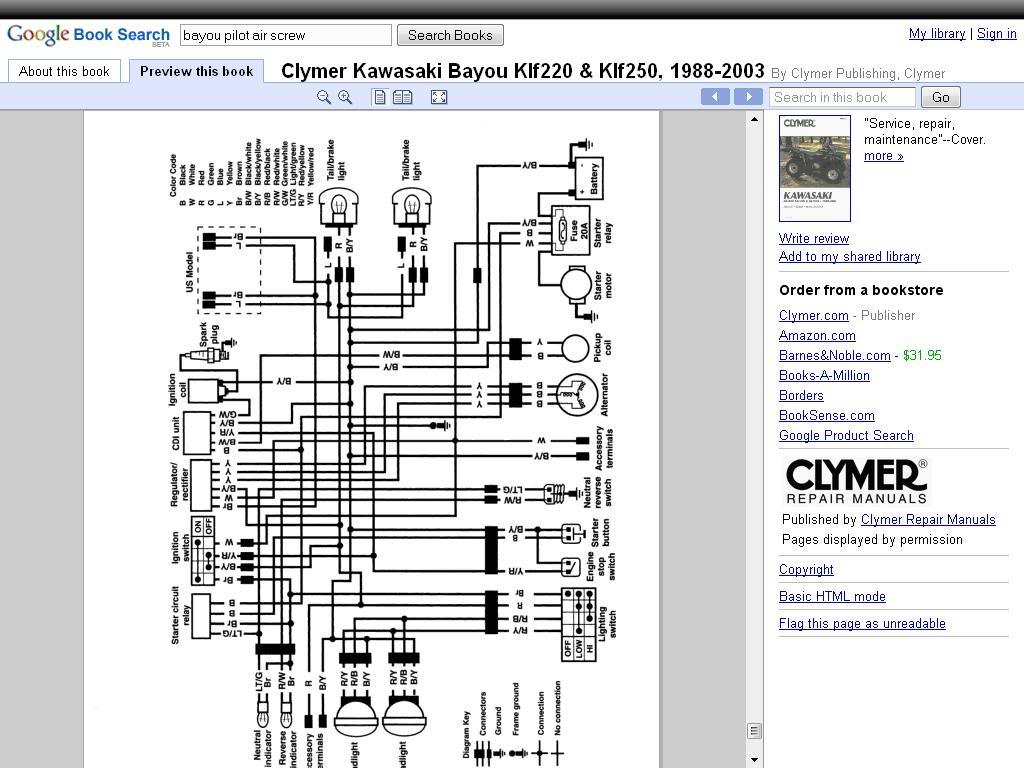 Kawasaki Bayou 300 Wire Diagrams - Wire Management & Wiring ... on