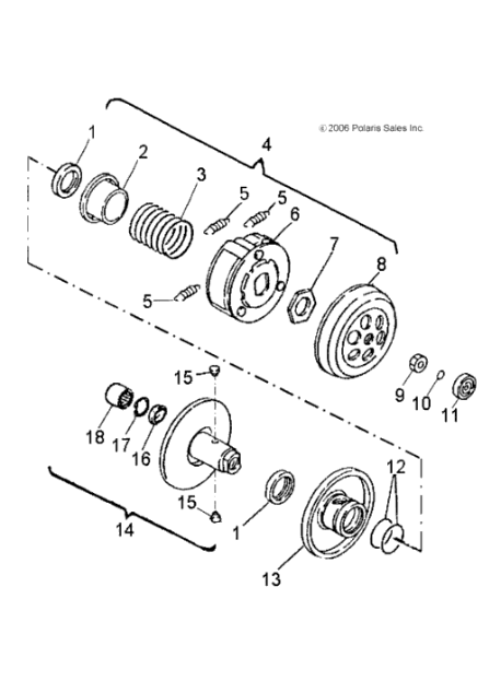 Outlaw 90 clutch rollers and air filter question