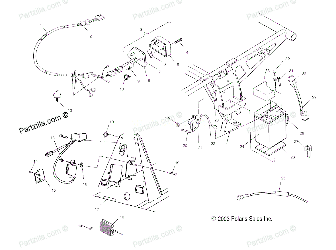 2005 330 Polaris Wiring Diagram 2003 Polaris Magnum Parts