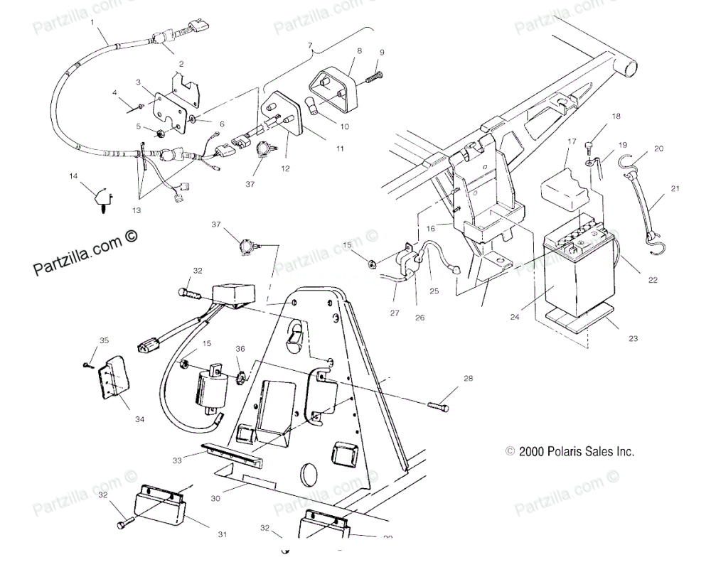 medium resolution of polaris trailblazer 250 wiring schematic