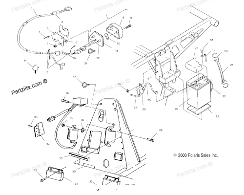 small resolution of polaris trailblazer 250 wiring schematic