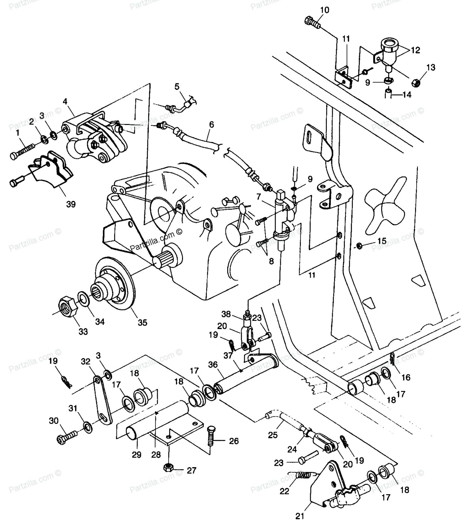 1998 sportsman 500 rear brake master cylinder replacement
