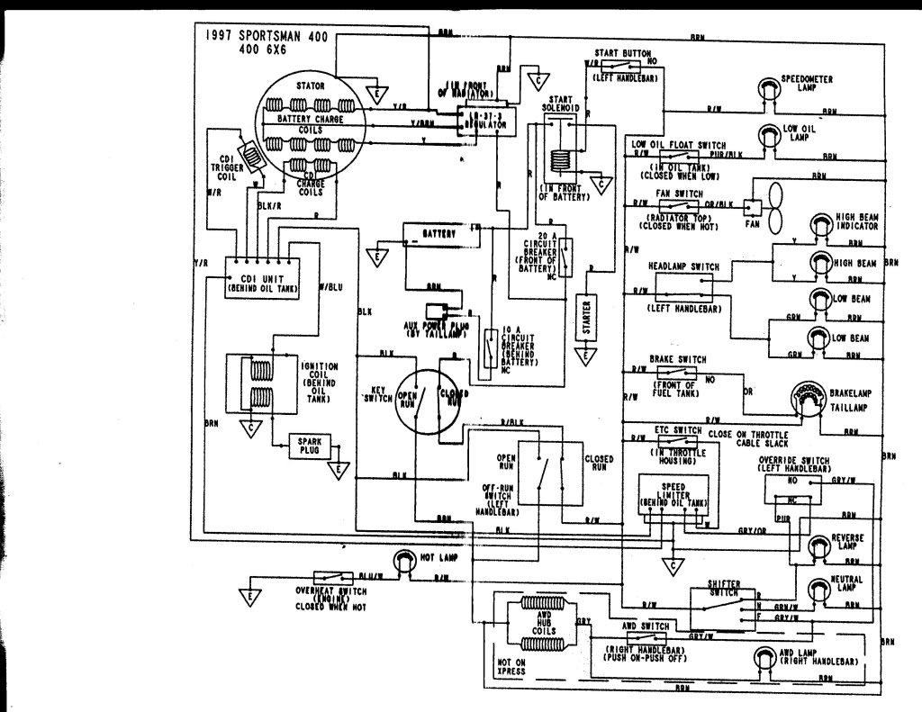 Wiring Diagram For 97 Polaris Scrambler 400 2003 Polaris