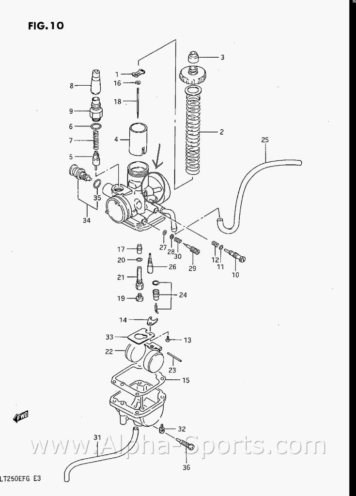 Suzuki 500 Atv Carburetor Parts Breakdown