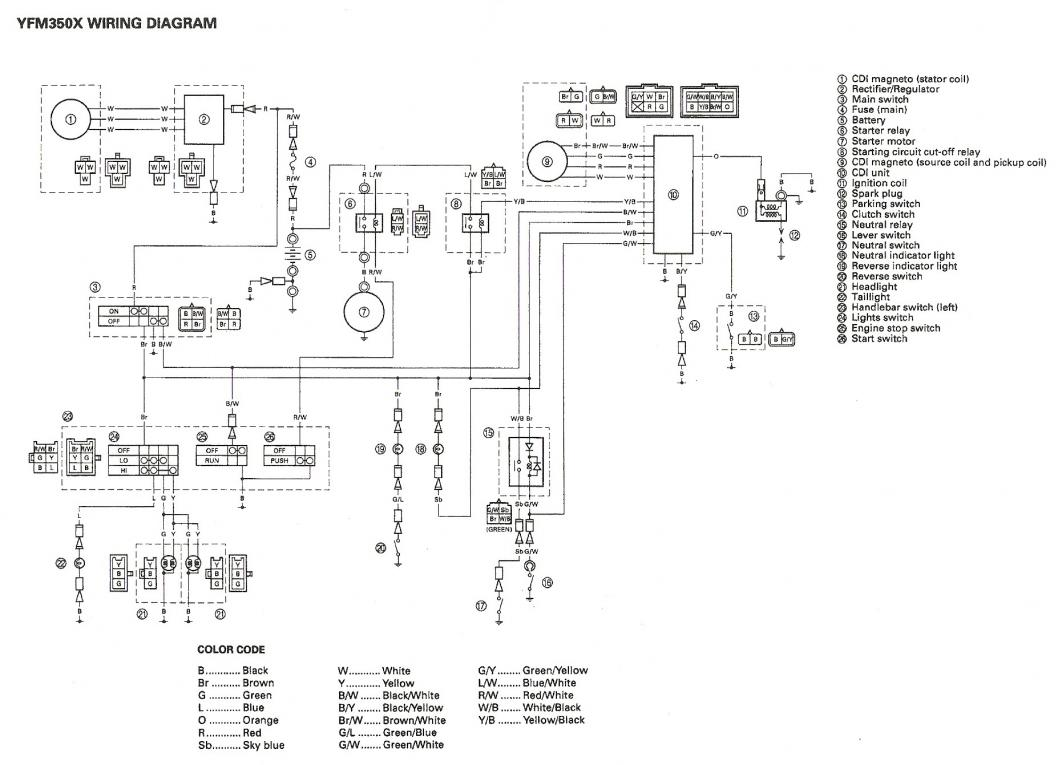 hight resolution of warrior 350 cdi wiring diagram wiring diagram sheet 1989 yamaha warrior 350 wiring diagram wiring diagram