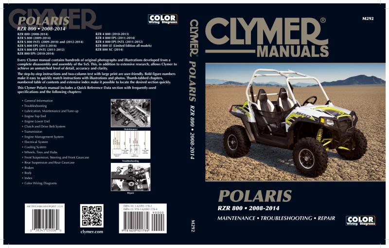 Clymer Manuals for Polaris RZR & Ranger 800 - ATVConnection.com on 2012 ram wiring diagram, 2012 honda wiring diagram, 2012 arctic cat wiring diagram,