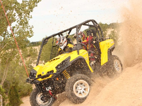 small resolution of 2011 can am commander black left riding on