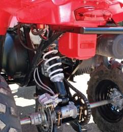 2011 polaris scrambler500 close up rear suspension jpg [ 960 x 1280 Pixel ]