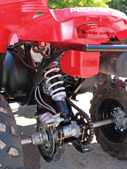 small resolution of 2011 polaris scrambler500 close up rear suspension jpg