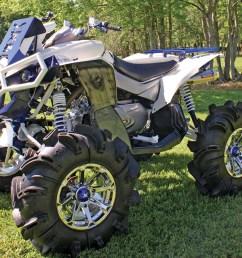 2012 can am renegade800 custom blue front left  [ 1280 x 960 Pixel ]