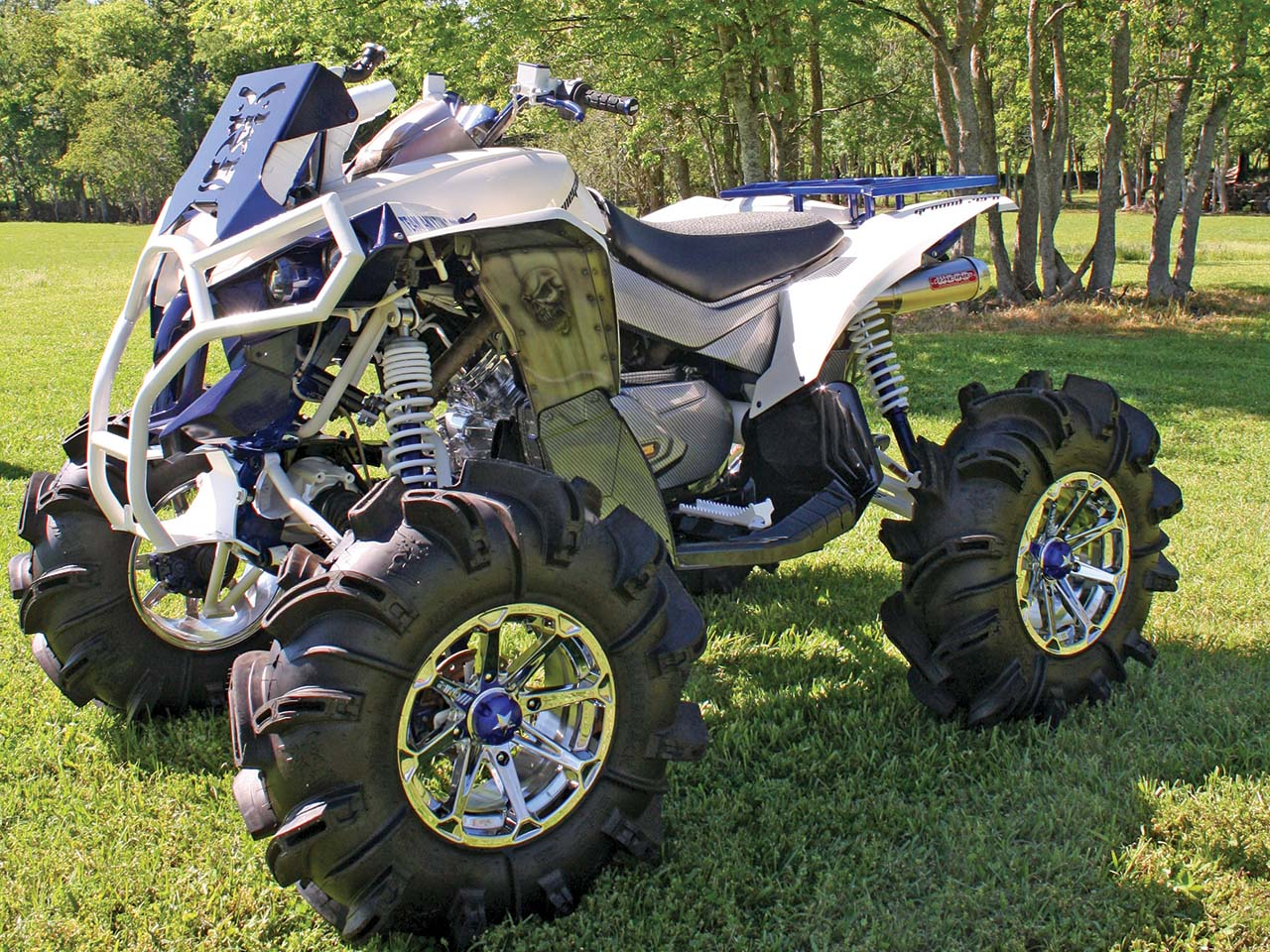 hight resolution of 2012 can am renegade800 custom blue front left