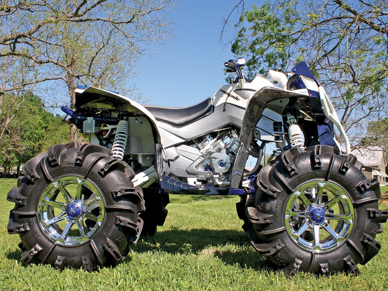 hight resolution of 2012 can am renegade800 custom blue right parked