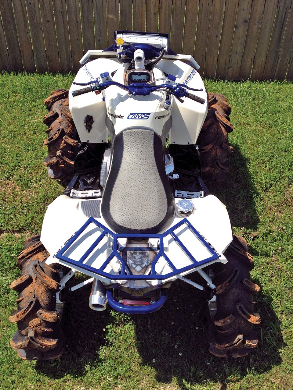 hight resolution of 2012 can am renegade800 custom blue top parked