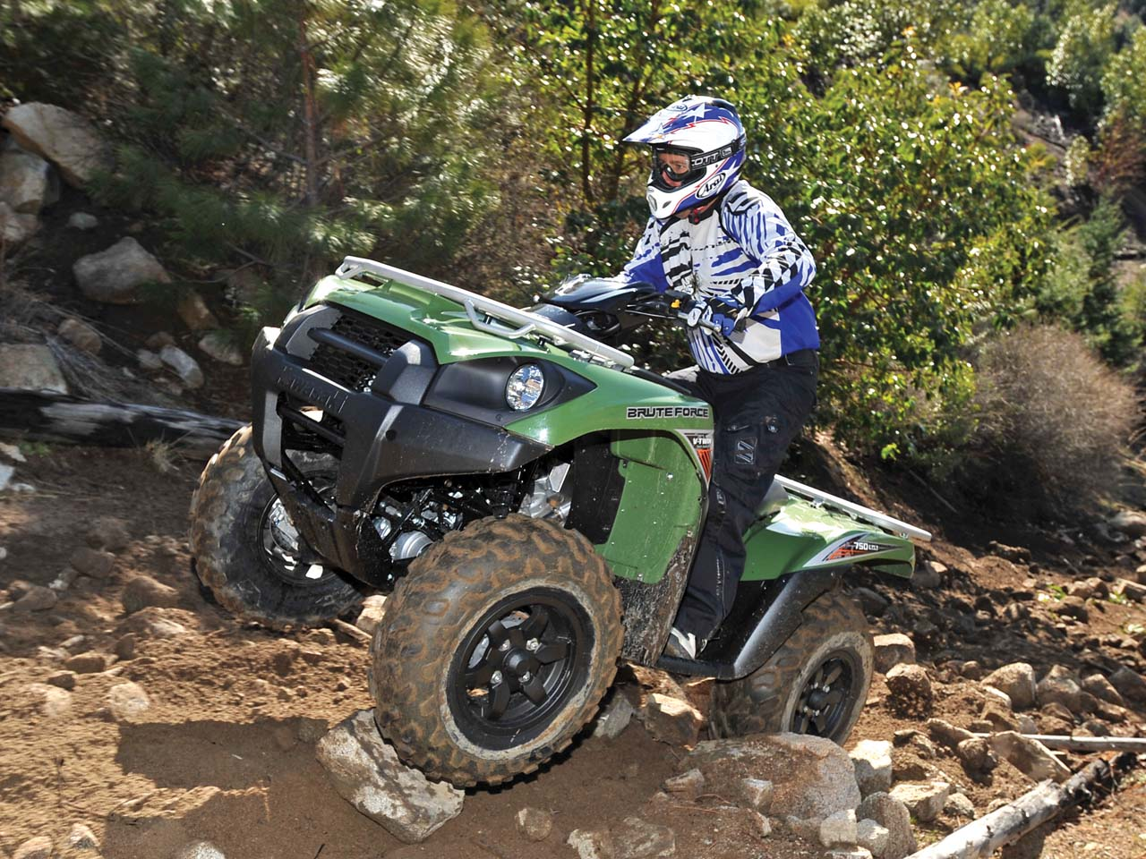 hight resolution of 2012 kawasaki brute force750 4x4i green front left