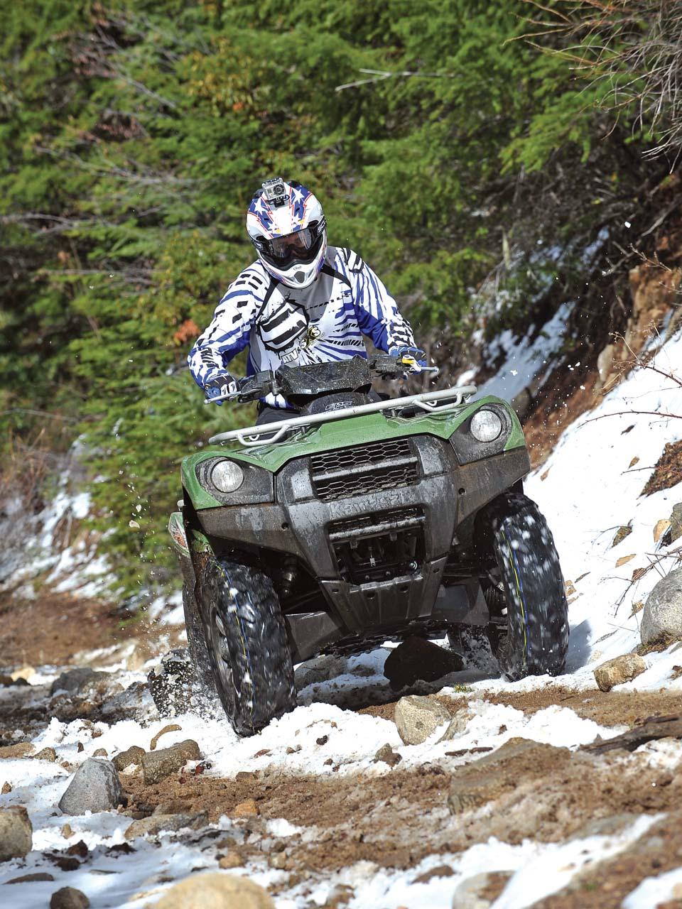medium resolution of  2012 kawasaki brute force750 4x4i green front riding