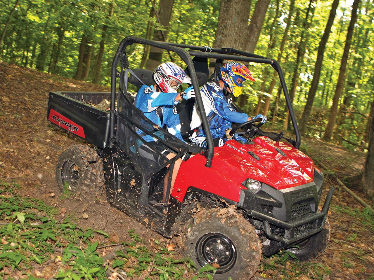 hight resolution of 2012 polaris ranger xp800 red front right riding