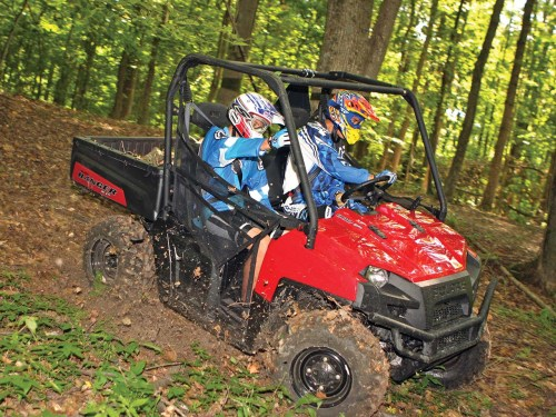 small resolution of 2012 polaris ranger xp800 red front right riding