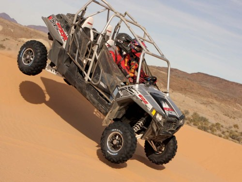 small resolution of 2012 polaris rzr4 900 silver right riding on