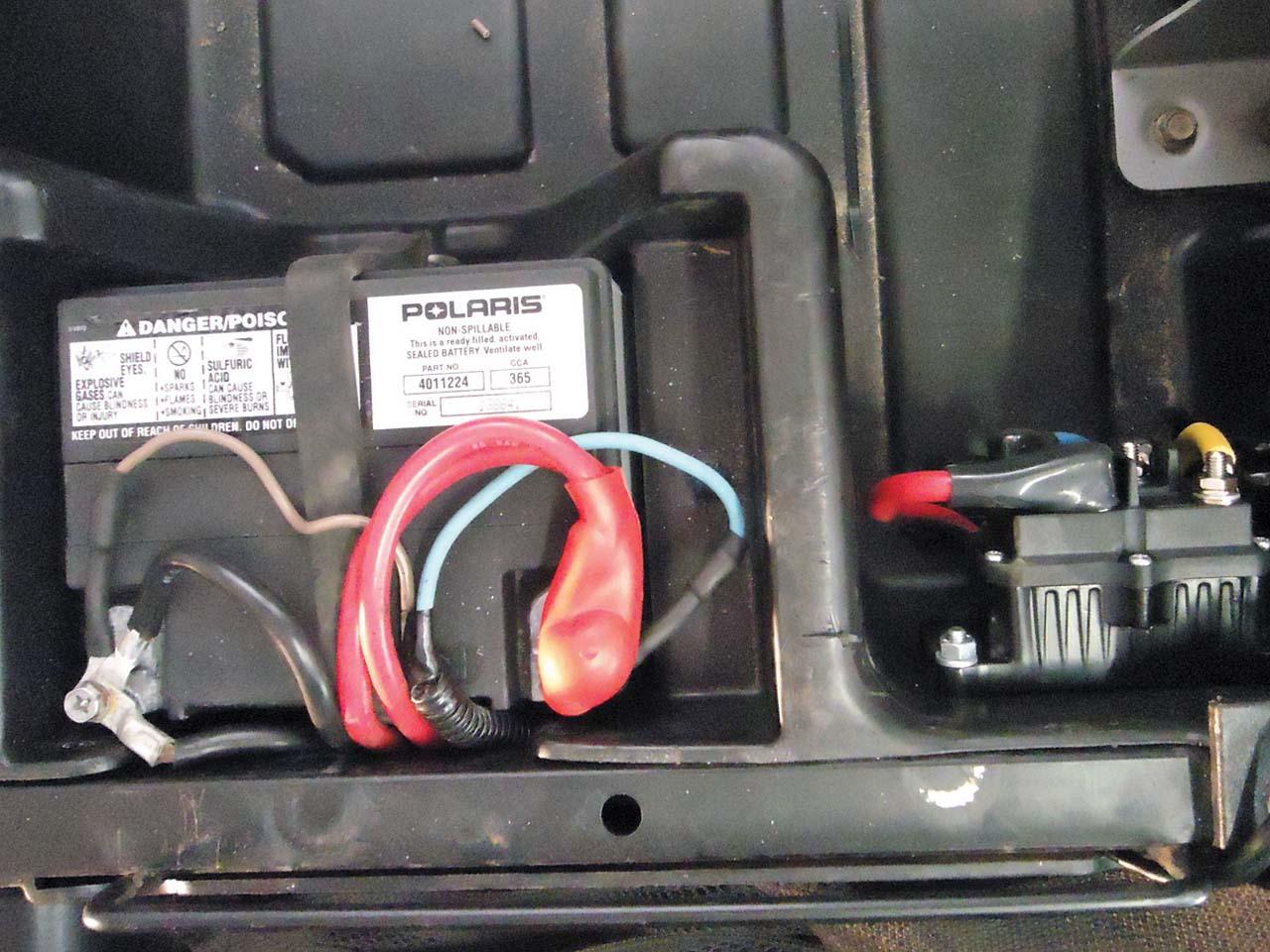 hight resolution of 2012 polaris rzr4 battery close up jpg