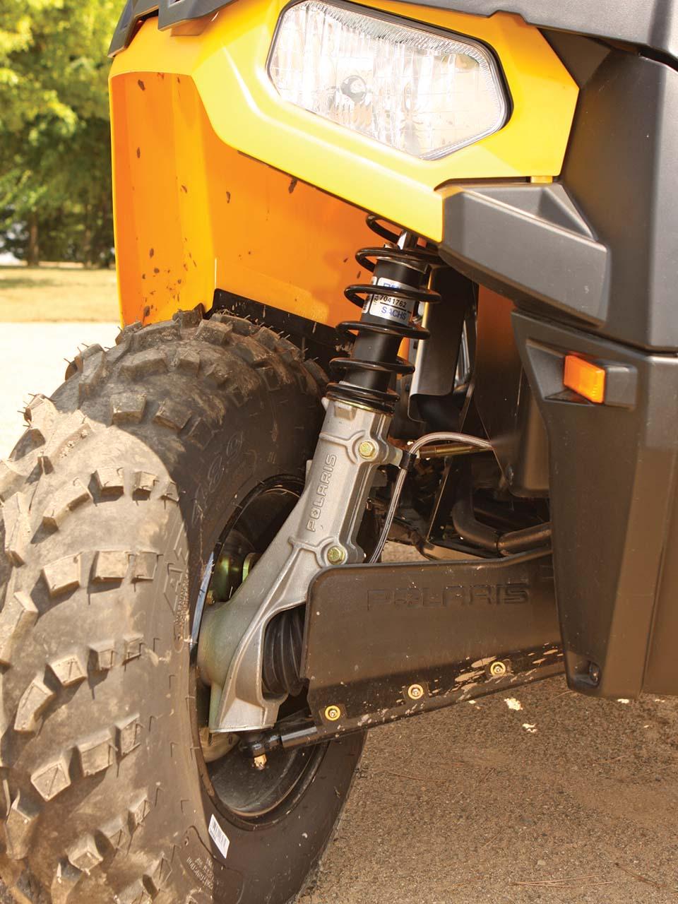 medium resolution of 2012 polaris sportsman500ho close up front suspension jpg