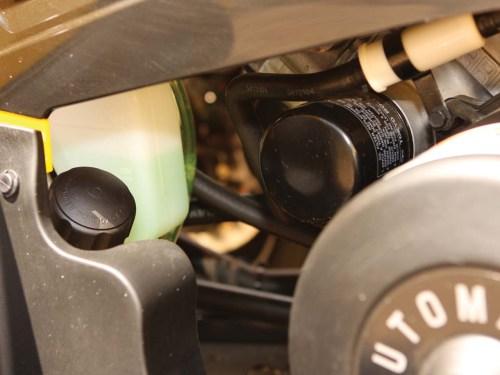 small resolution of 2012 polaris sportsman500ho close up oil filter jpg