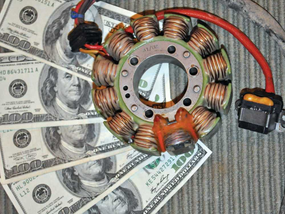 medium resolution of 2013 poalris sportsman close up stator coil jpg