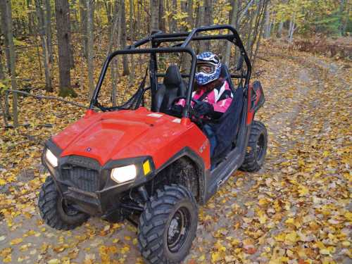 small resolution of 2013 polaris rzr570 red front left riding on