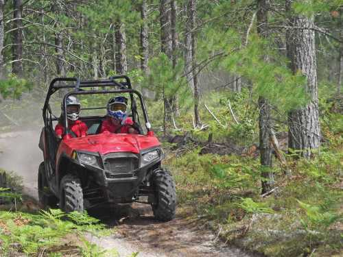 small resolution of 2013 polaris rzr570 red front right riding on