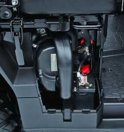 we like how kawasaki considered maintenance tasks with the mule pro fxt air filter and battery access is just behind this easy opening side panel [ 1280 x 960 Pixel ]