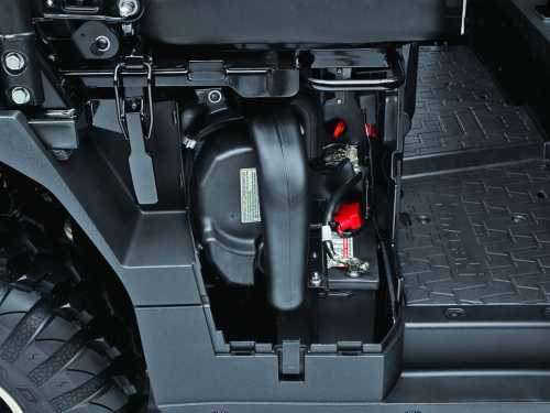 small resolution of we like how kawasaki considered maintenance tasks with the mule pro fxt air filter and battery access is just behind this easy opening side panel