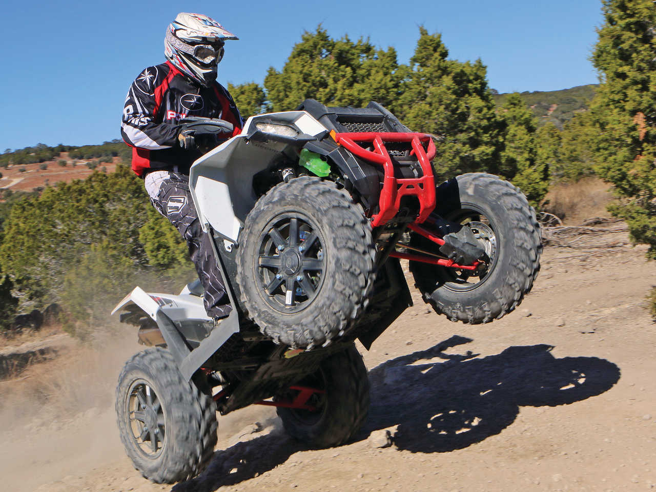 hight resolution of 2015 polaris sportsman ace front right white riding