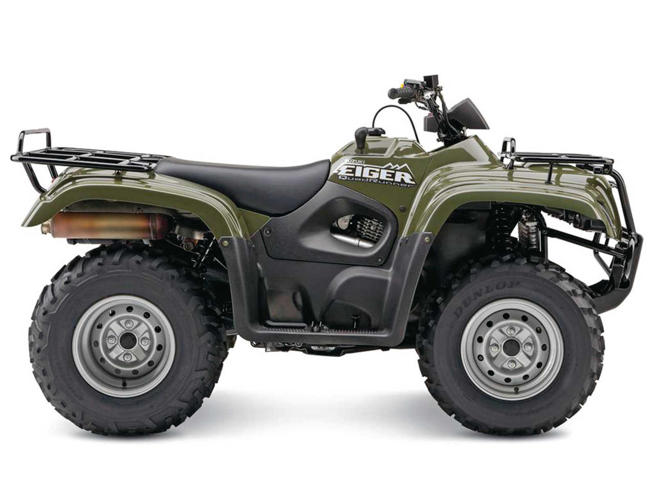 hight resolution of 2015 suzuki quadrunner eiger green right studio jpg
