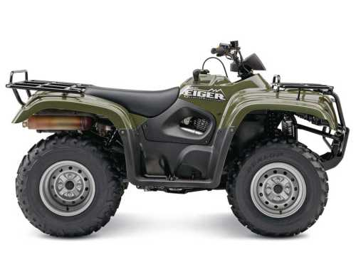 small resolution of 2015 suzuki quadrunner eiger green right studio jpg