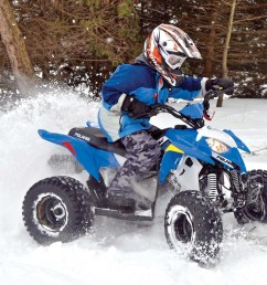 2017 polaris outlaw110 front right blue riding in  [ 1280 x 954 Pixel ]