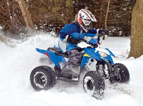 small resolution of 2017 polaris outlaw110 front right blue riding in