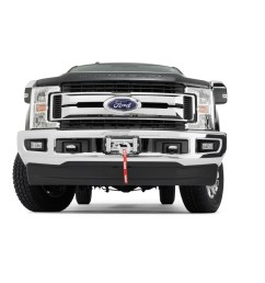 the super duty hidden kit retains the factory front bumper even with the winch installed the mount will accommodate warn heavy weight winches m12 m12 s  [ 1500 x 1000 Pixel ]