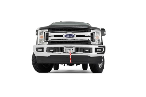 small resolution of the super duty hidden kit retains the factory front bumper even with the winch installed the mount will accommodate warn heavy weight winches m12 m12 s