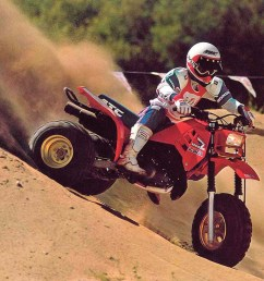 honda 1986 atc 250r front right red riding  [ 1280 x 960 Pixel ]
