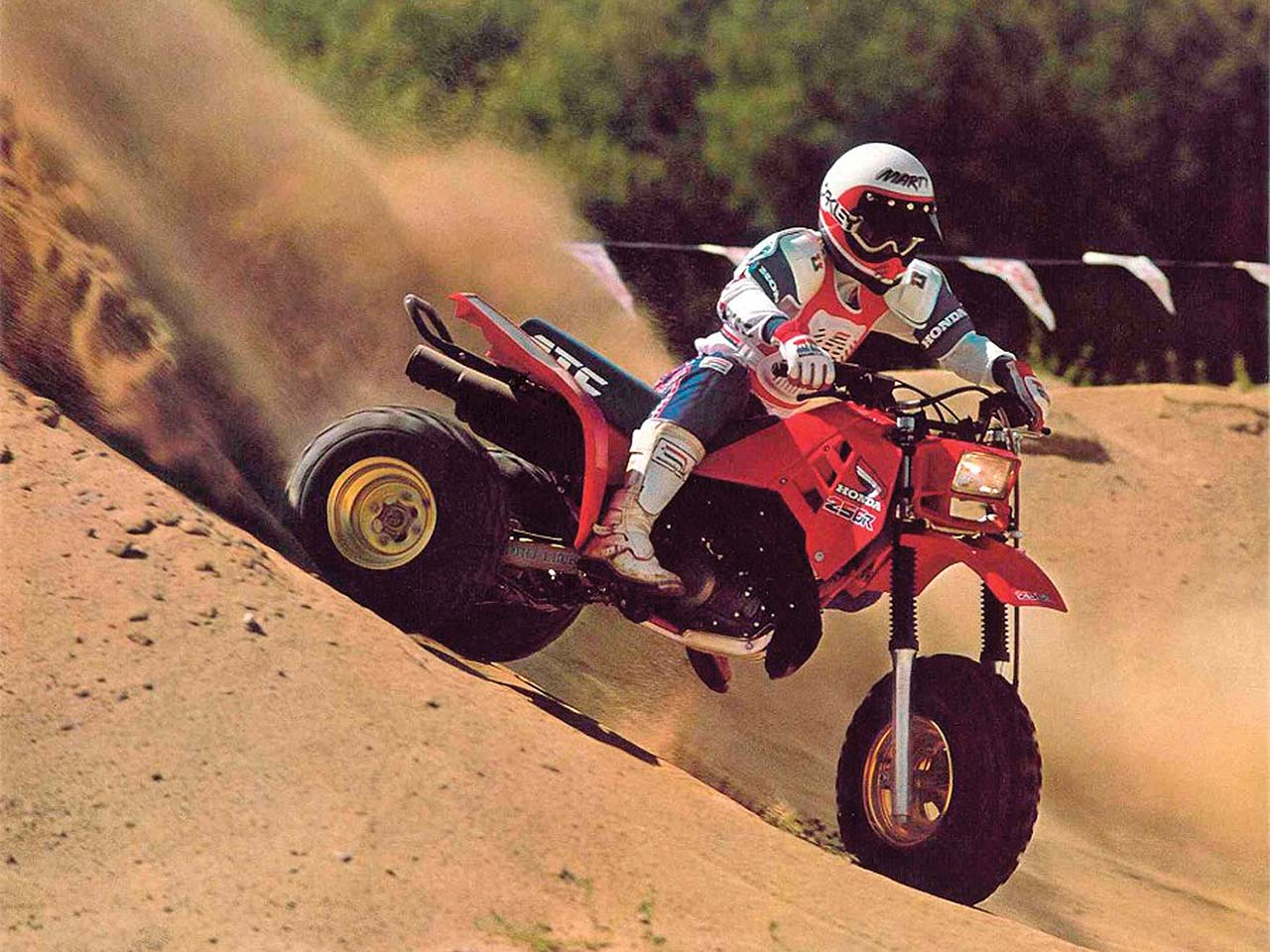 hight resolution of honda 1986 atc 250r front right red riding