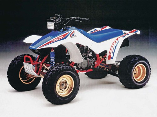 small resolution of honda 1986 fourtrax250r front left white studio