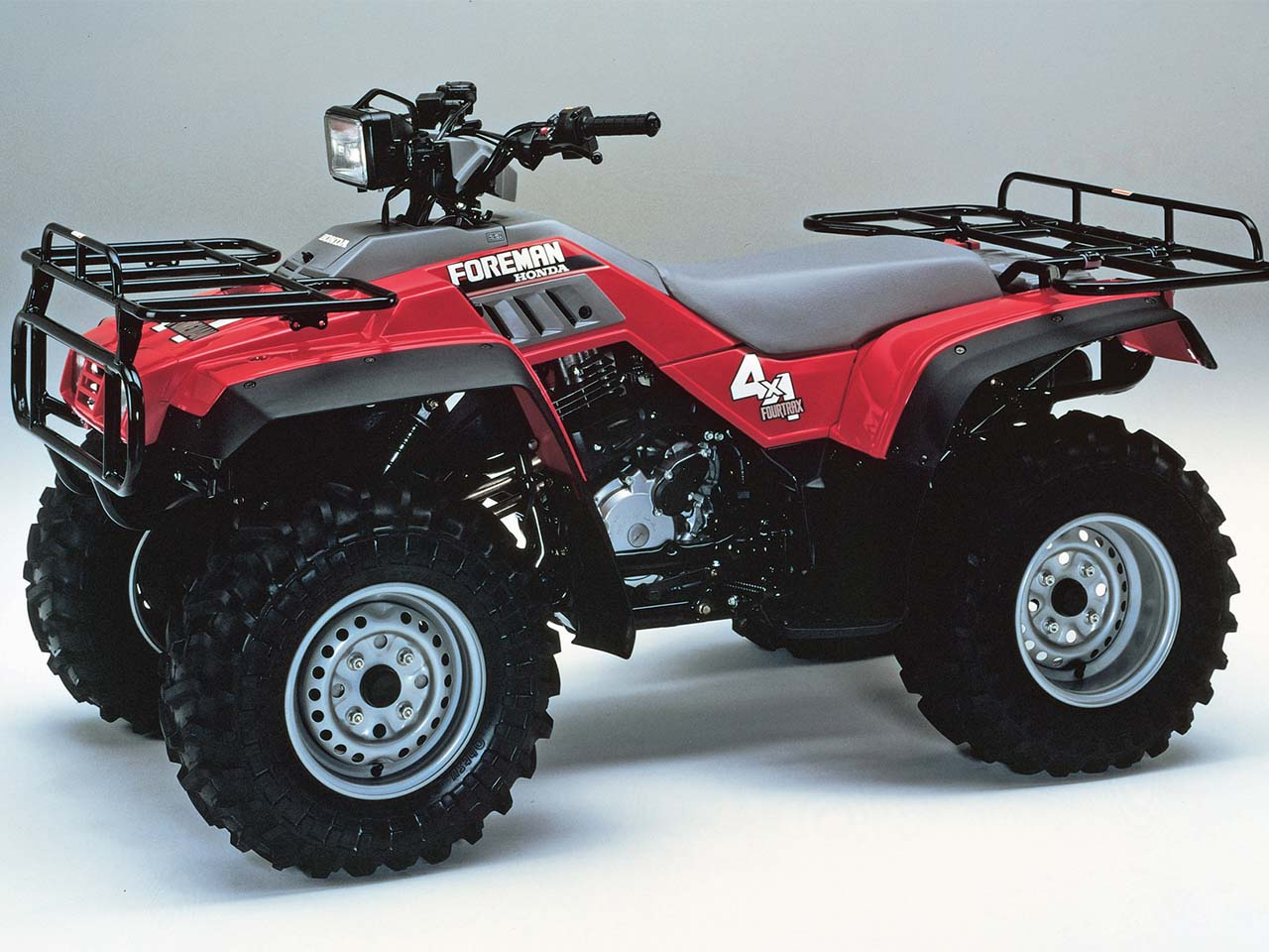 hight resolution of honda 1987 fourtrax foreman4x4 right red studio