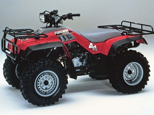 small resolution of honda 1987 fourtrax foreman4x4 right red studio