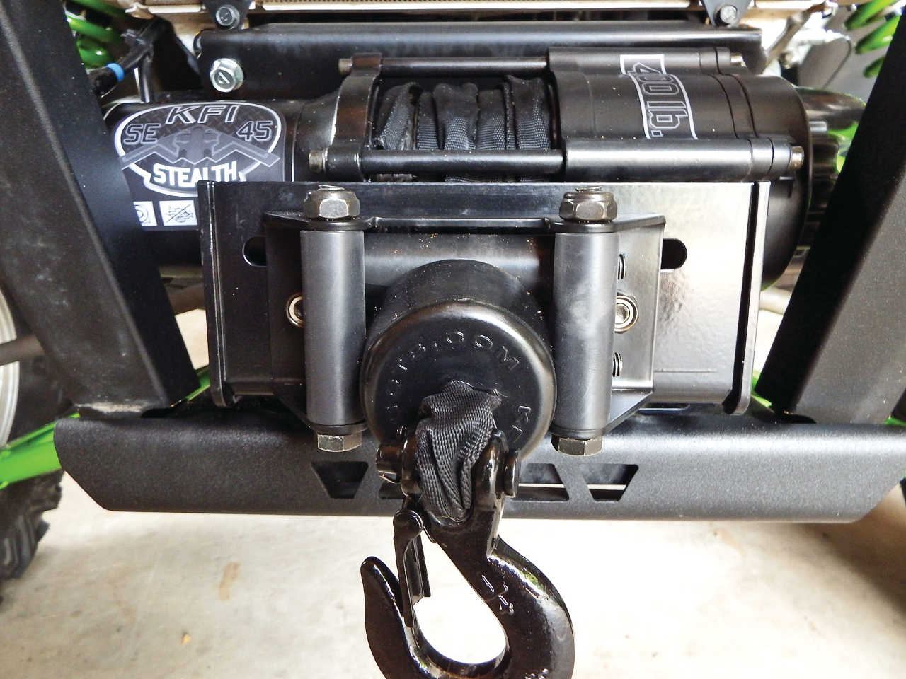 hight resolution of  vendor 2015 kfi stealth winch mounted on kawasaki