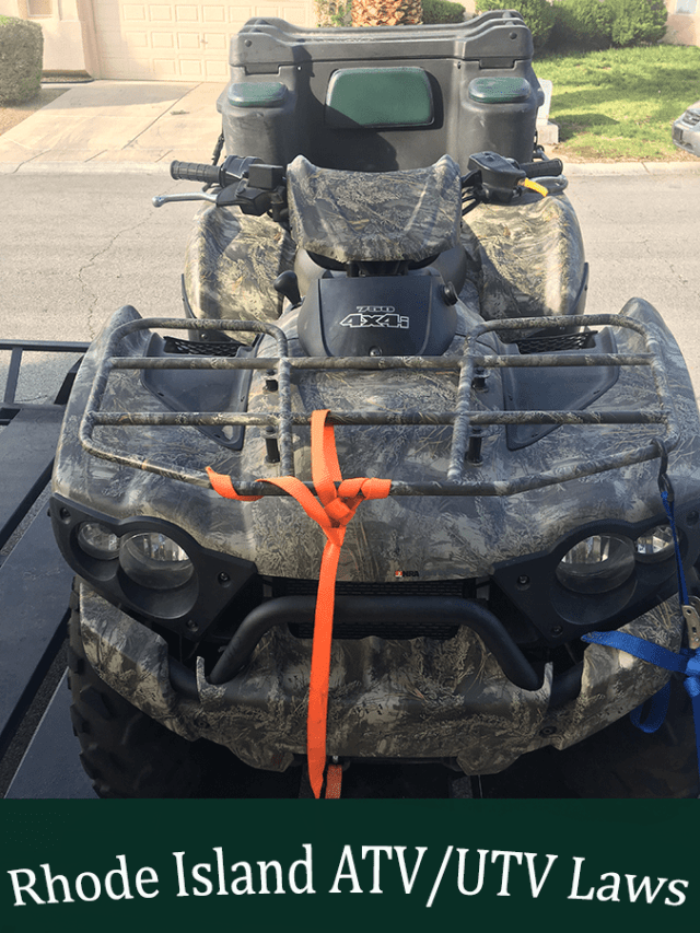 Guide to the ATV and UTV Laws of Rhode Island