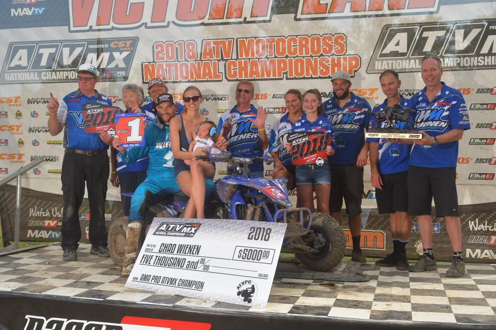 Chad Wienen earned the overall win, and his sixth AMA Pro ATV Motocross National Championship.